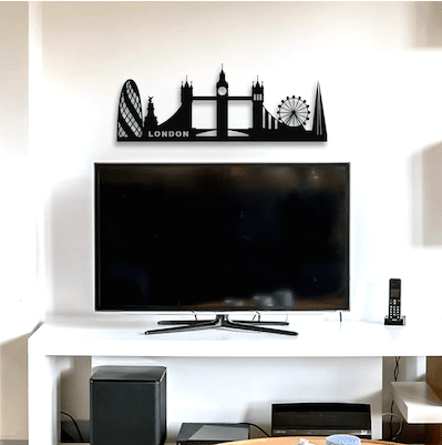 Metal London skyline wall decoration for your interior design