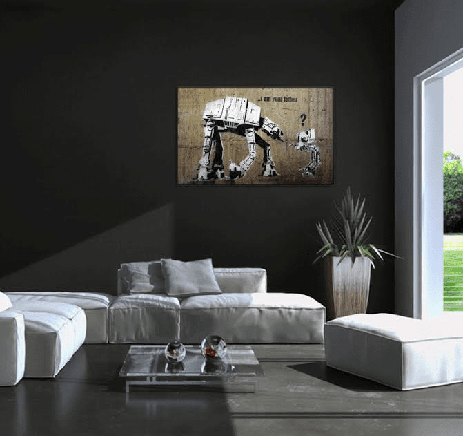 tableau d co design funny star wars artwall and co. Black Bedroom Furniture Sets. Home Design Ideas