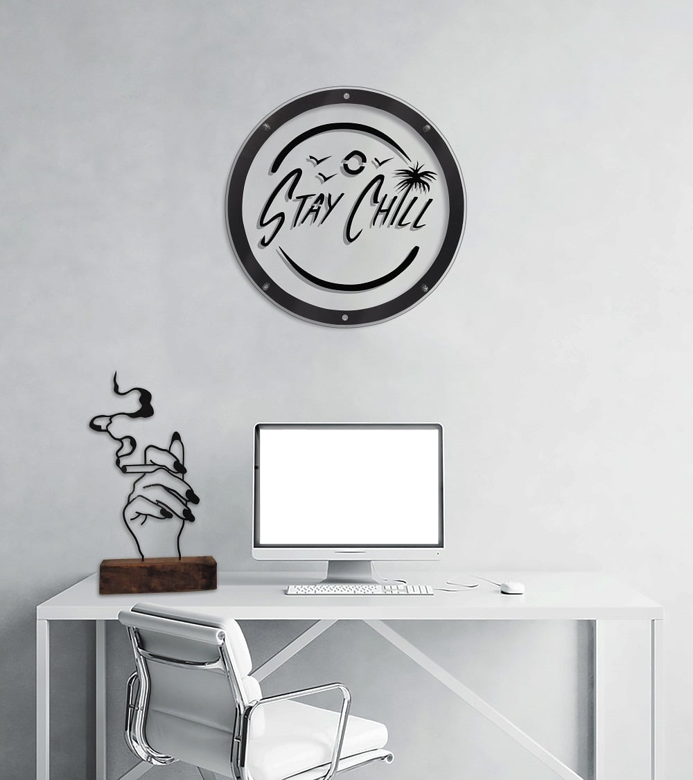 Stay chill metal wall decoration for a zen atmosphere into your home