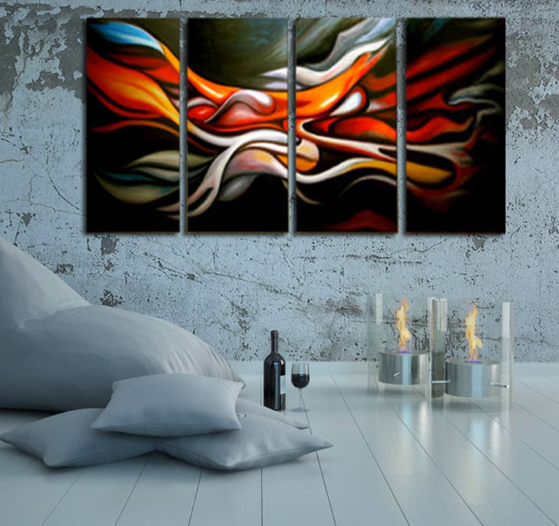 color mixing abstract painting - Tableau Abstrait Color