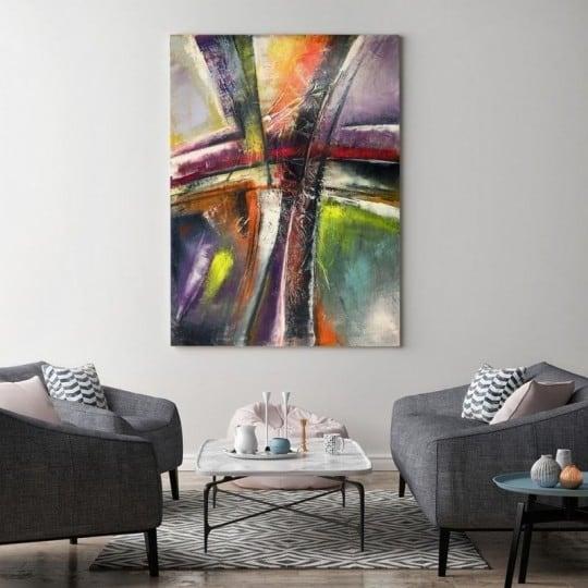 Abstract multicolore wall decoration for a unique interior