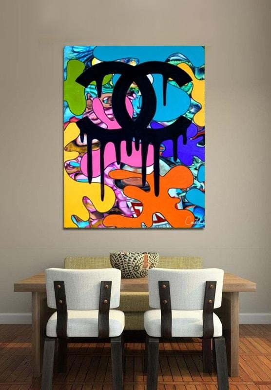 Chanel graffiti design canvas from our artist byoohlala