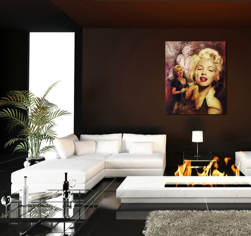 tableau d co marilyn monroe. Black Bedroom Furniture Sets. Home Design Ideas