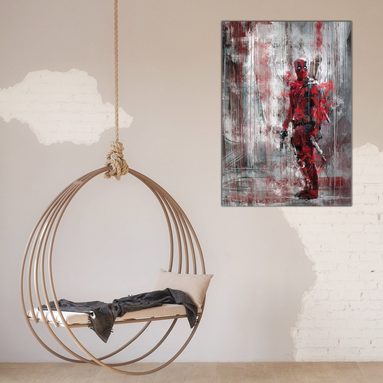Modern deadpool in a artist canvas print for interior