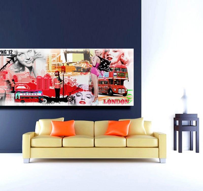deco londres trendy chambre duado coussin tapis et lampe. Black Bedroom Furniture Sets. Home Design Ideas