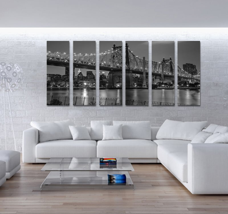 Tableau new york queensboro bridge for Decoration murale geante new york