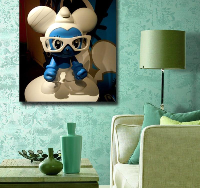 tableau enfant schtroumpf. Black Bedroom Furniture Sets. Home Design Ideas