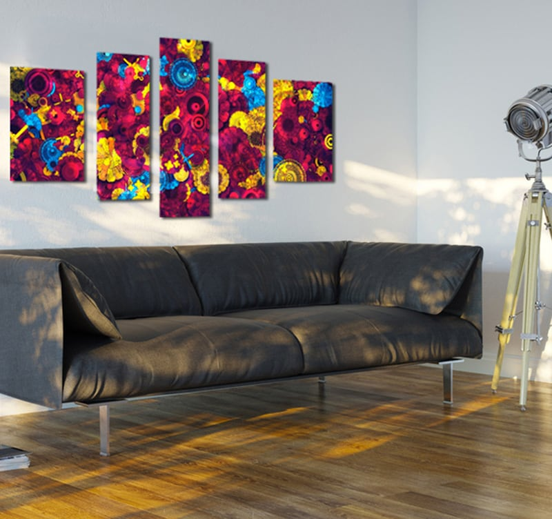 tableaux abstraits abstract flowers. Black Bedroom Furniture Sets. Home Design Ideas