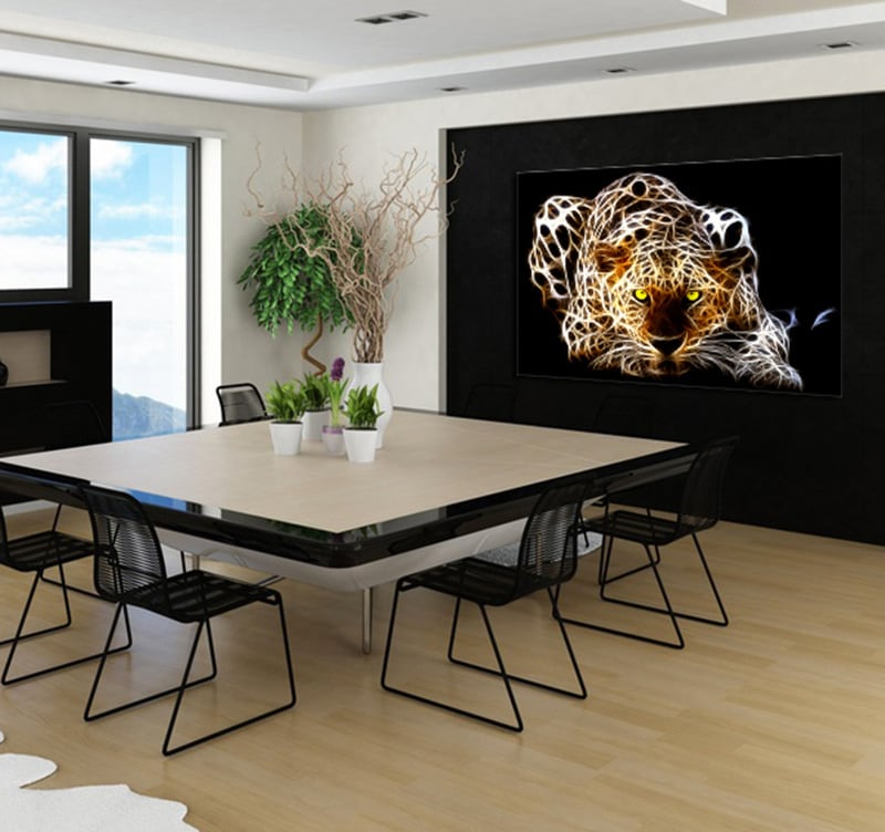 Ghost Tiger modern art print for a nature wall decoration