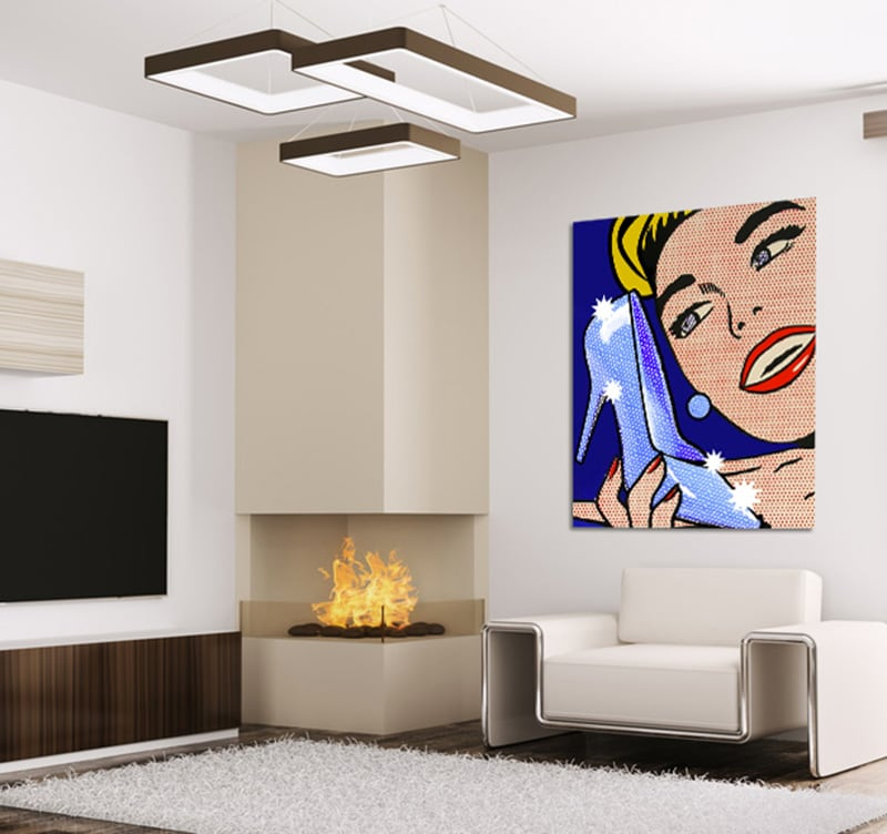 tableau contemporain lichtenstein pop art. Black Bedroom Furniture Sets. Home Design Ideas
