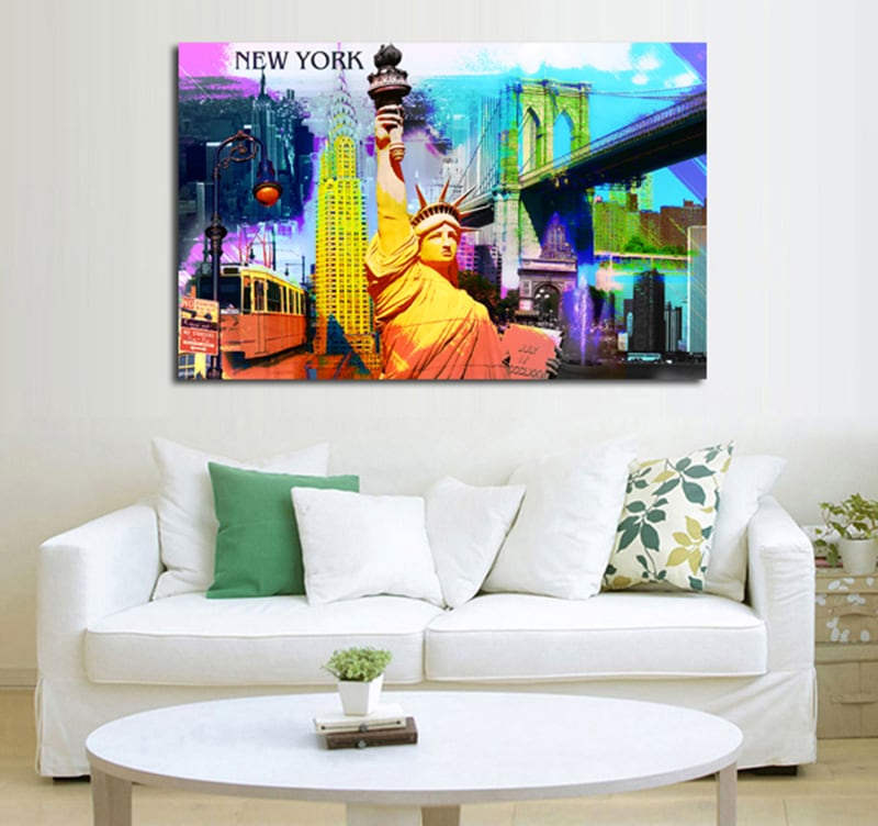 tableau design New-York pop-art