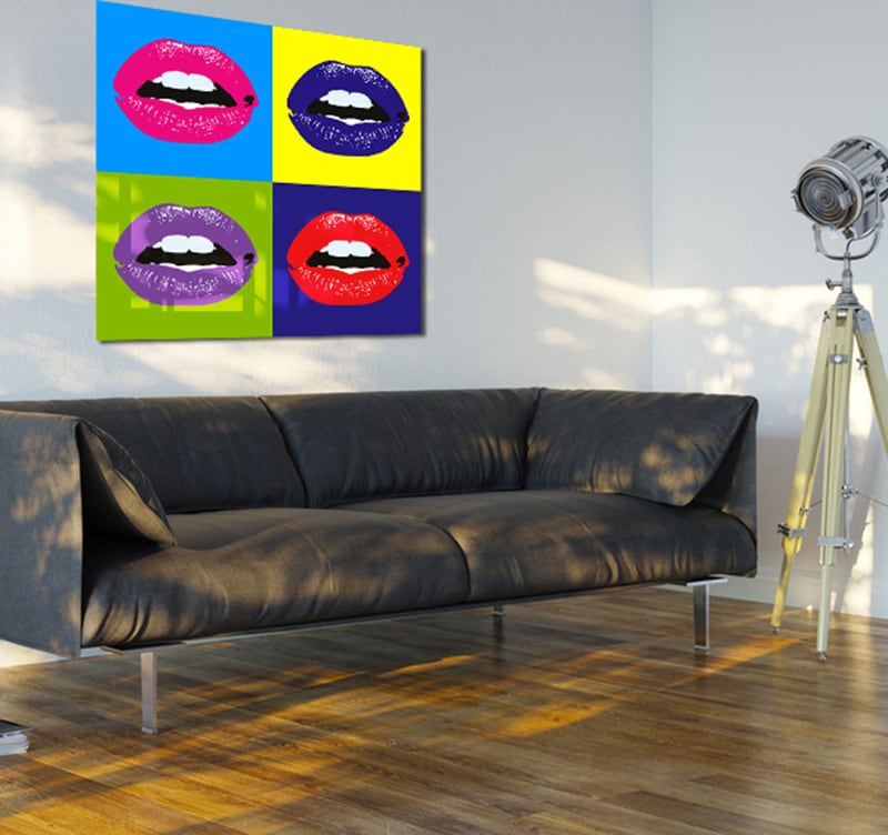tableau design pop-art bouche