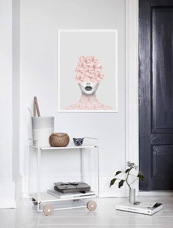 Tableau floral aluminium pour un style fashion dans votre déco murale