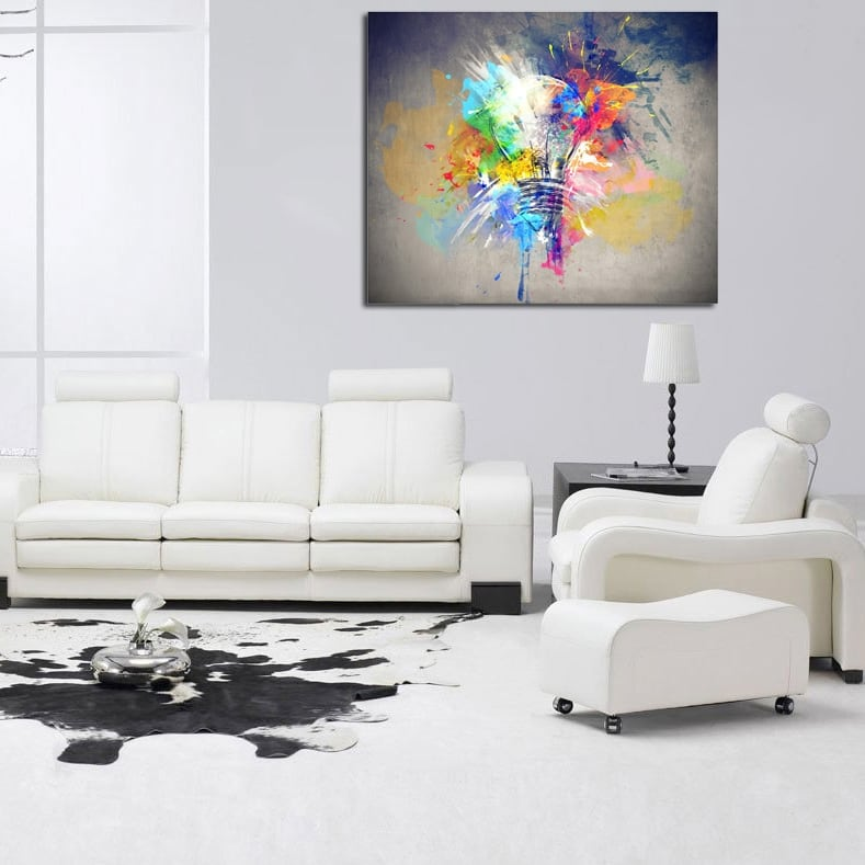Energy decorative canvas for a modern wall decoration