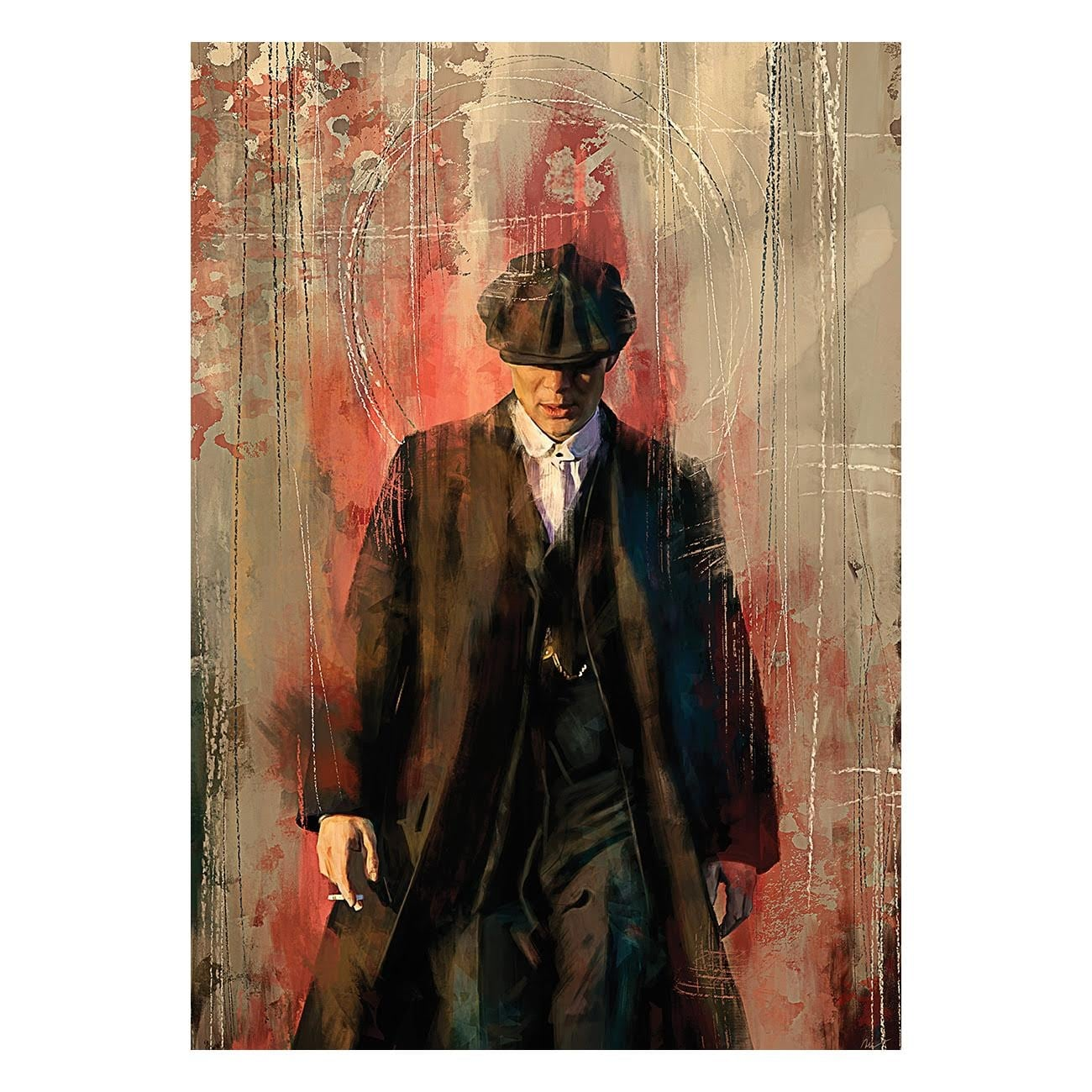 Peaky blinders design art canvas for wall decoration