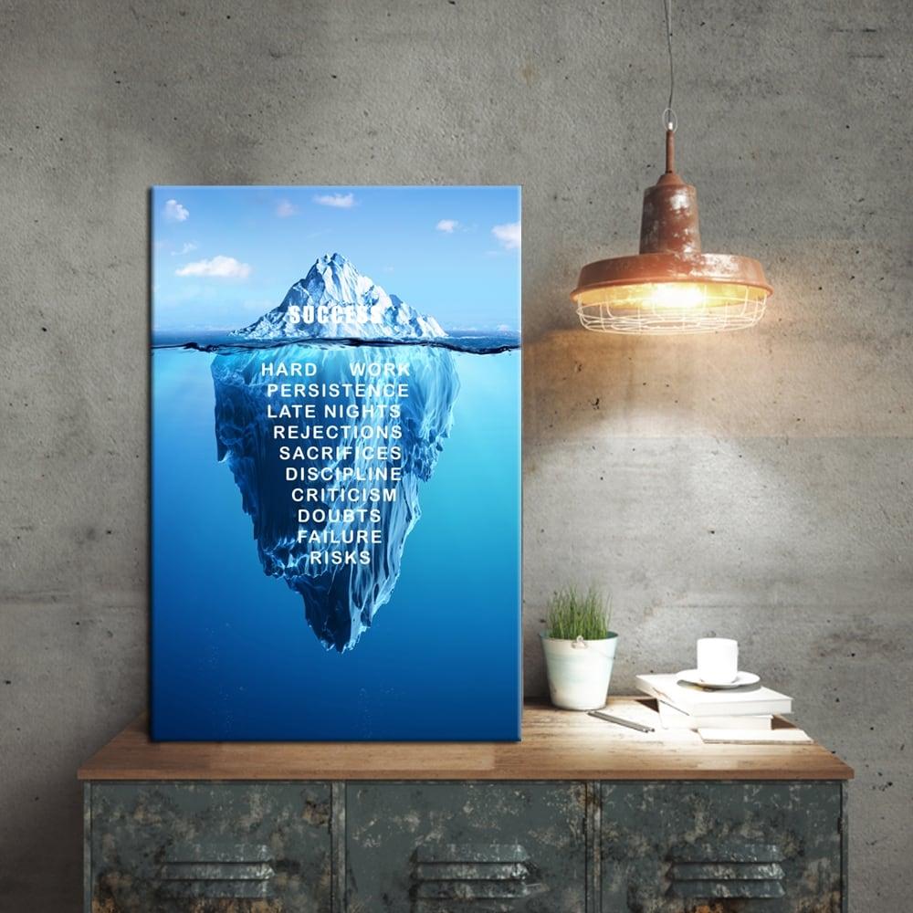 Tableau deco moderne du succès pour les entrepreneurs du monde