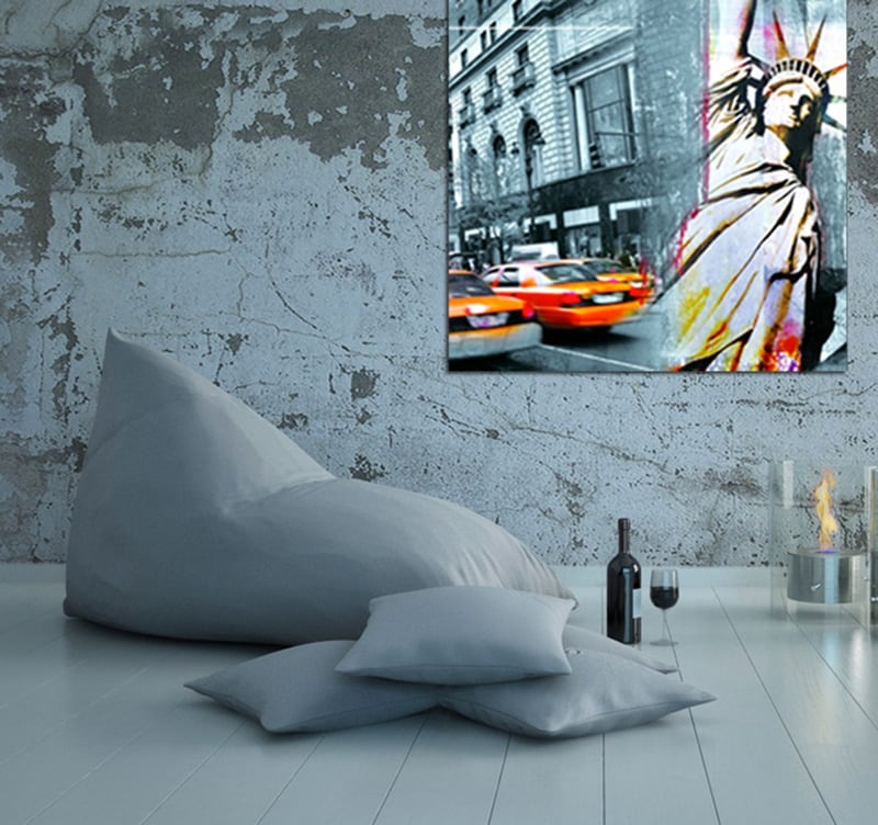 Liberty City wall decoration on canvas print for a modern interior of New York