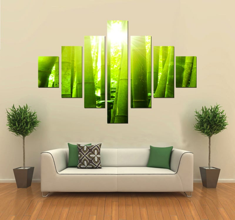 Tableau nature bamboo for Decoration chambre zen nature
