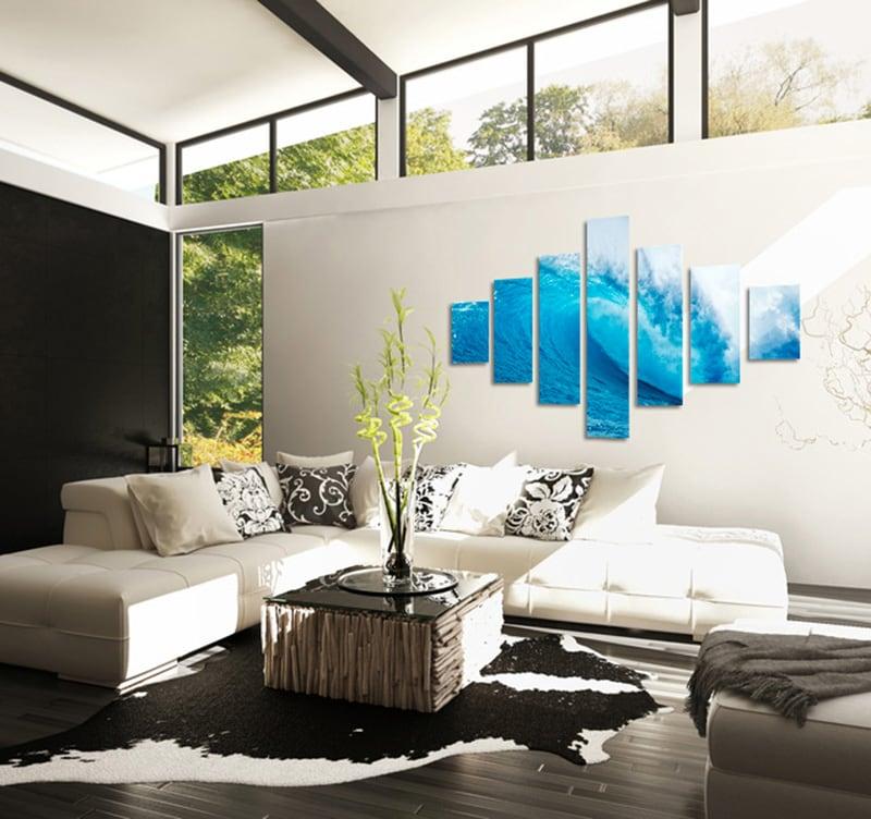 tableau zen wave. Black Bedroom Furniture Sets. Home Design Ideas