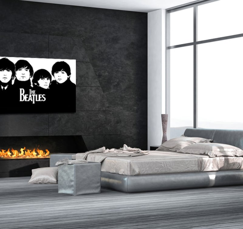 The Beatles black and white art print