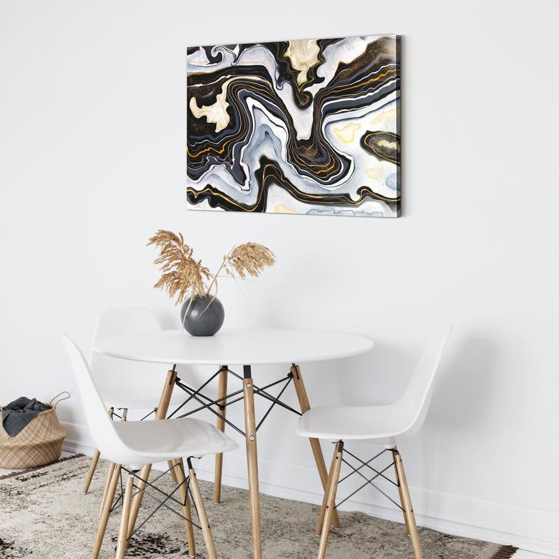 Tableau abstrait nuit noire pour une touche design dans votre intérieur