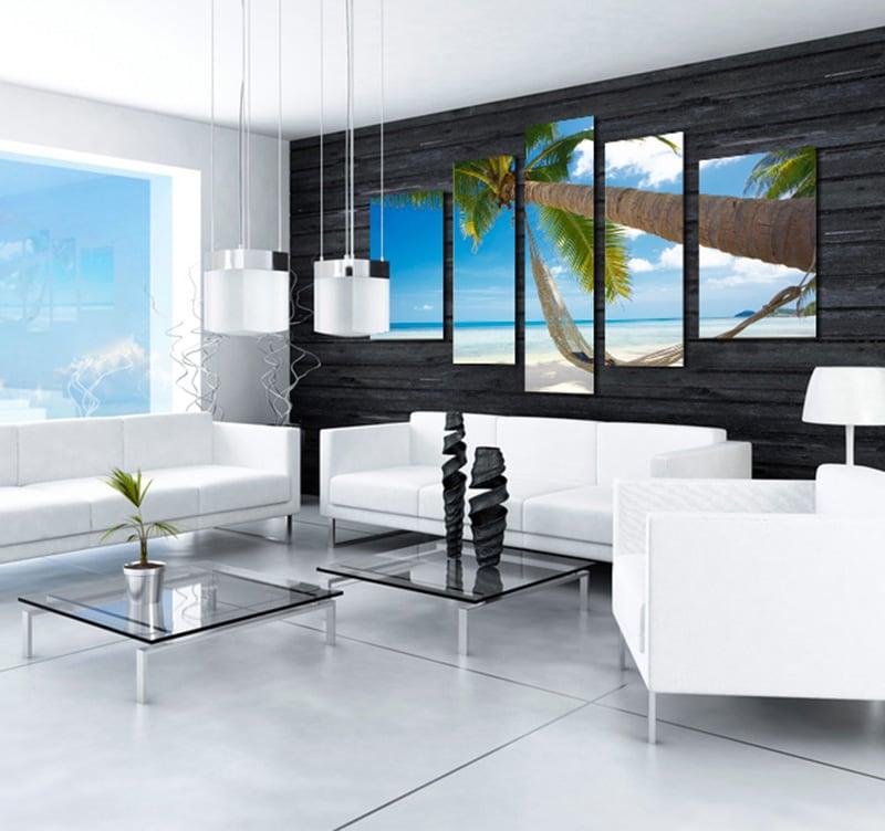 Bahamas Palm landscape art print for a nature wall decoration