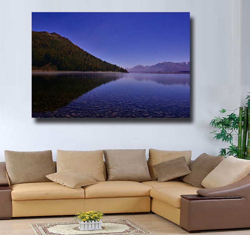 Travel with this landscape picture on canvas to make a design decoration in your living room