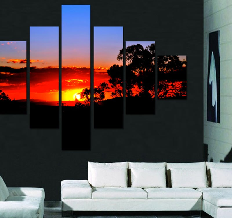 Natural Sunset 1 landscape art print for an originale wall decoration