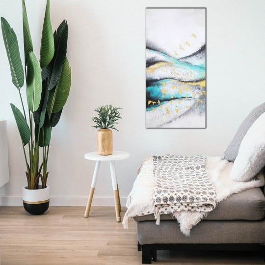 Wall oil painting from our artist of a dune with a contemporary style