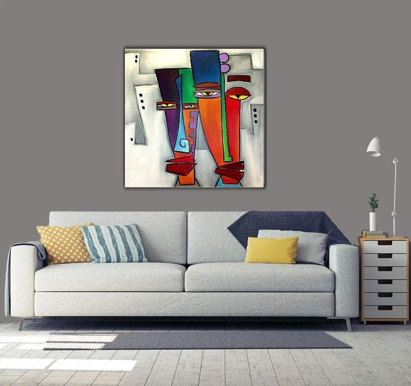 Pop art oil painting for a modern interior
