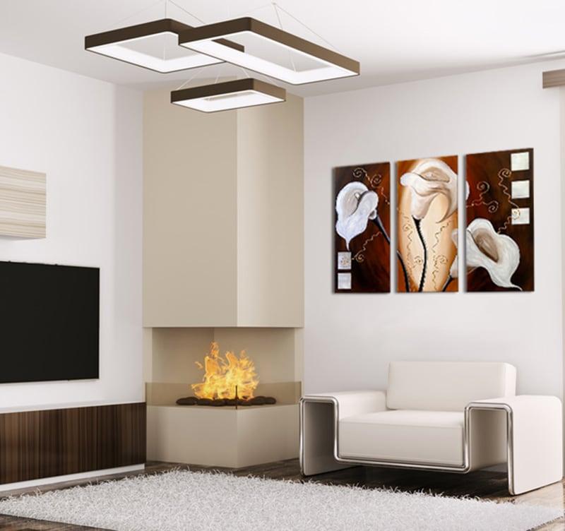 tableau moderne white flower. Black Bedroom Furniture Sets. Home Design Ideas