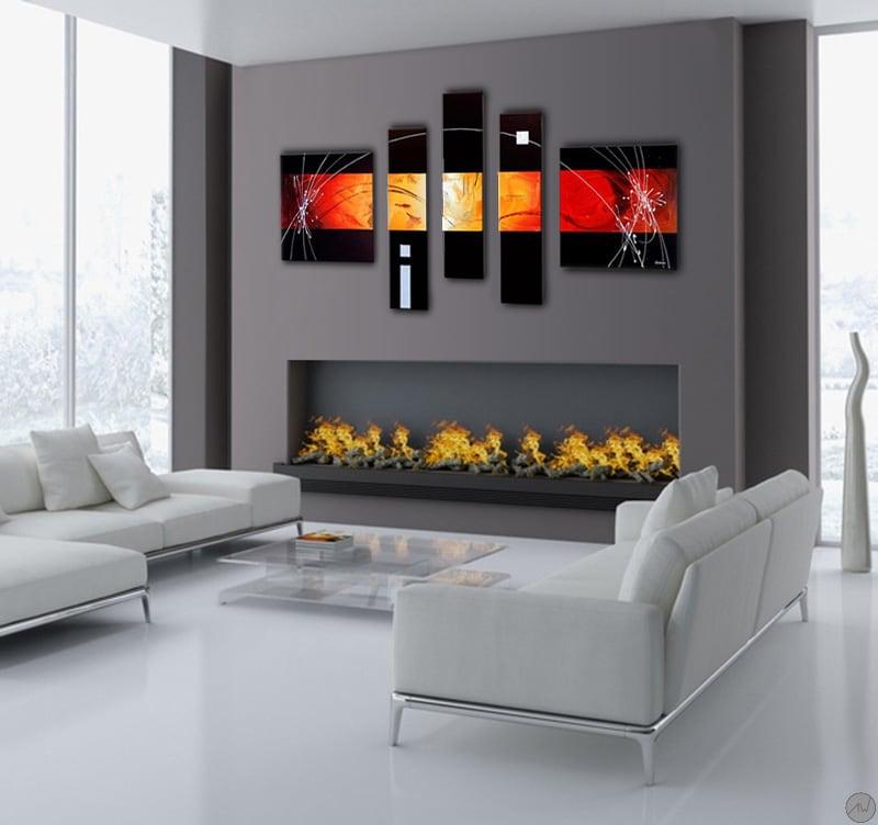 Maison contemporaine avec la présentation du tableau tendance Future design Abstract