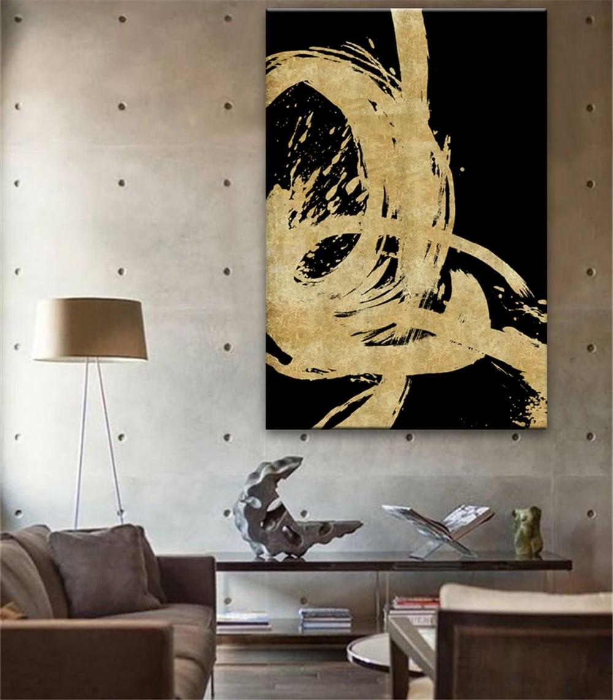 Toile peinture empreinte or pour une décoration murale unique