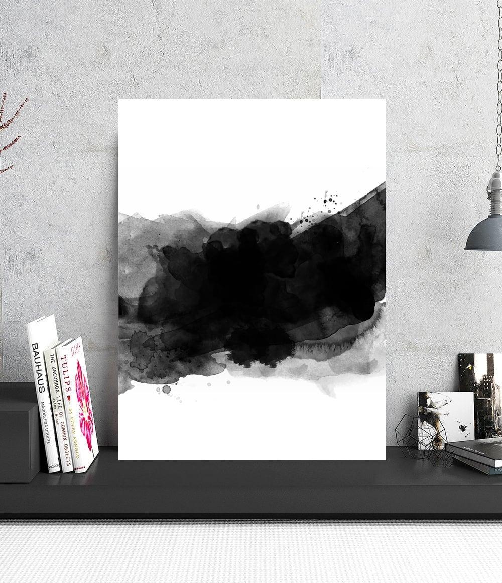 Tableau photo d'art abstrait d'un écran de fumée pour votre intérieur