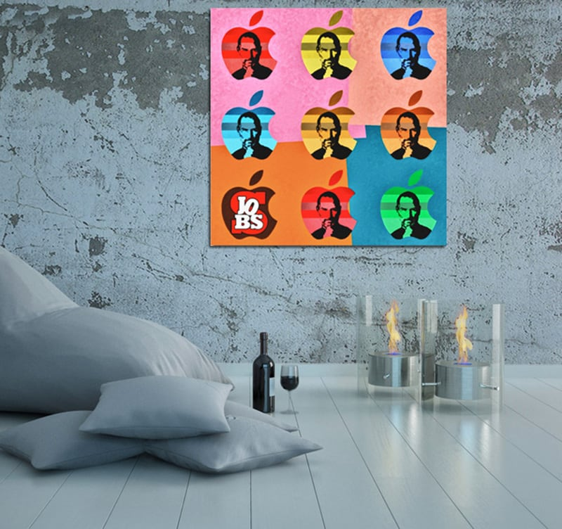 tableau pop art steve jobs. Black Bedroom Furniture Sets. Home Design Ideas