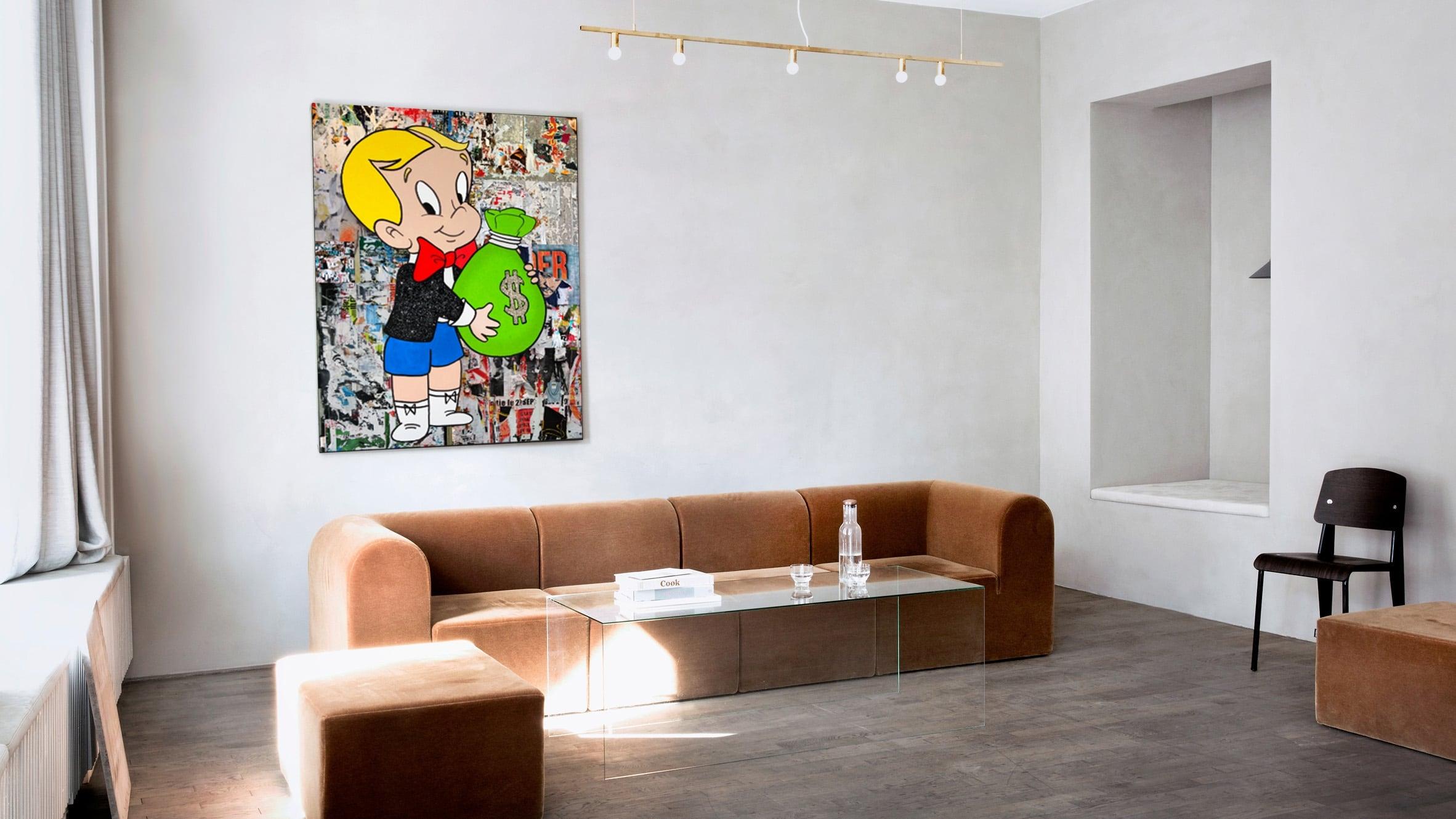 Richie rich modern canva decoration for a unique interior