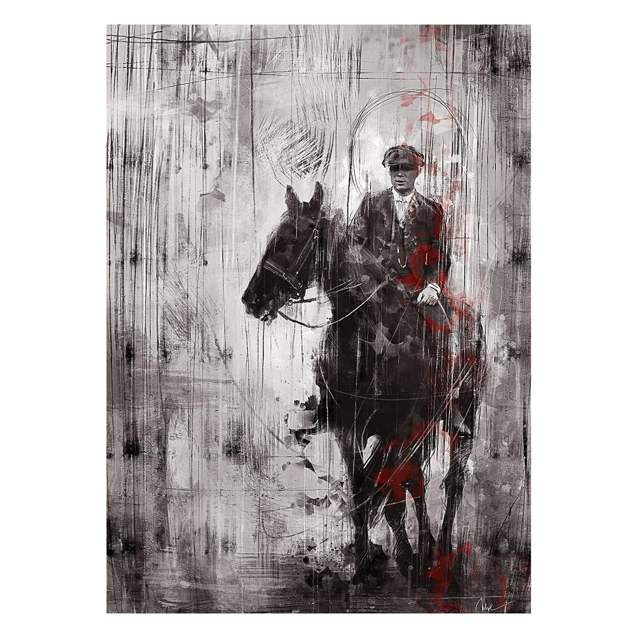 Tommy Shelby design canvas for wall decoration