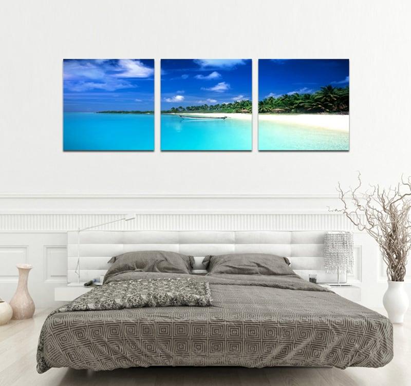 tableau triptyque paradise beach