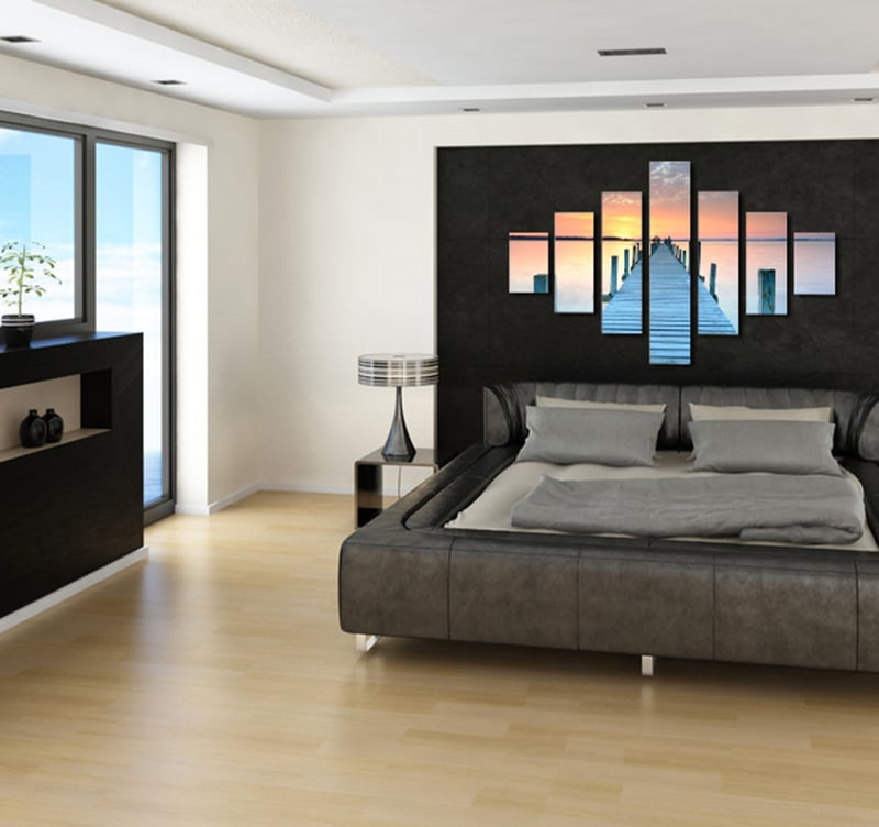 tableau pas cher seychelles pier. Black Bedroom Furniture Sets. Home Design Ideas