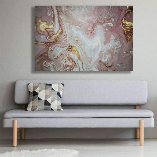 Abstract wall canvas of a pink marble for a design wall decoration
