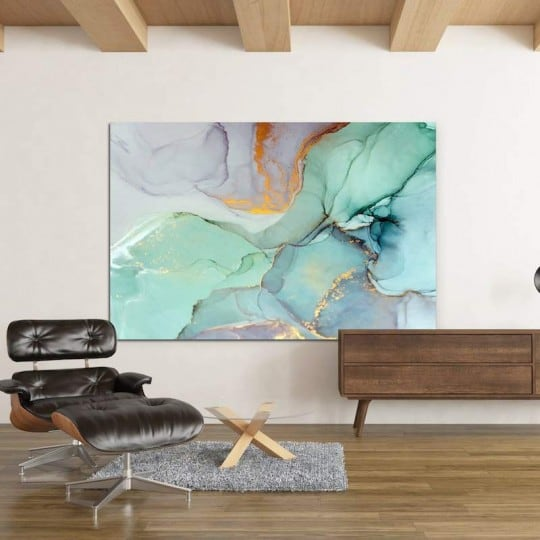 Abstract wall green marble canvas for a design wall decoration