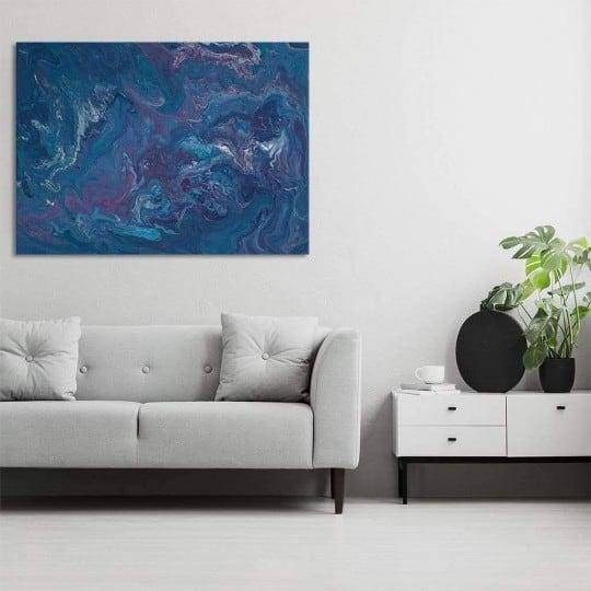 Dark ocean abstract wall canvas for a trendy interior