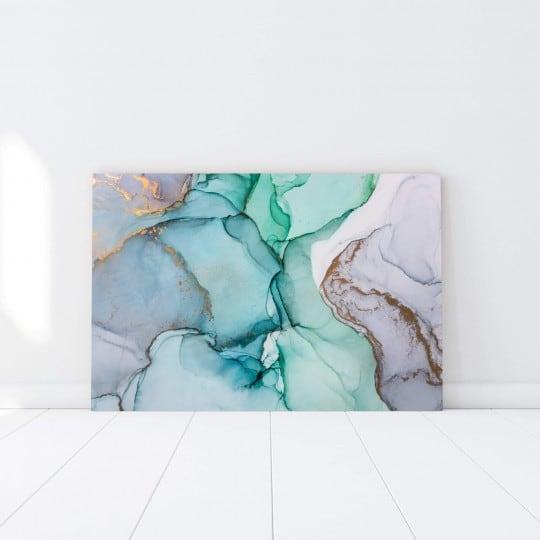 Tableau abstrait papier marbre pour des couleurs vibrantes dans votre déco murale