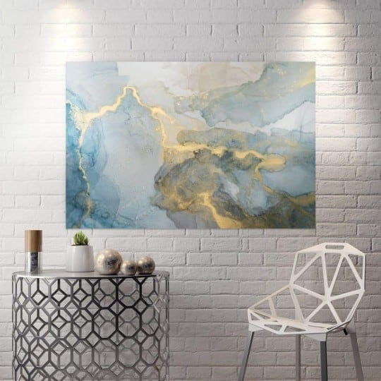 Abstract wall canvas print of lighting for a design interior