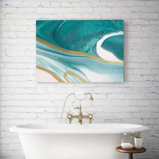 Abstract wall canvas print for an unique interior decoration