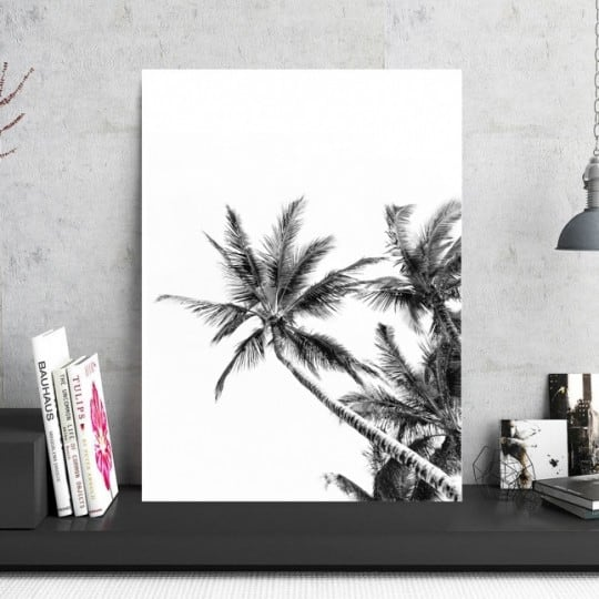 Tableau photo aluminium palmiers tropicaux pour votre déco murale