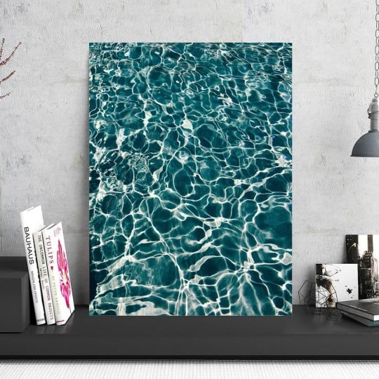 Swimming pool art photo decoration for a unique interior