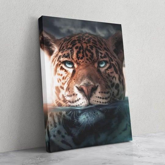 Tableau design de jaguar pour une déco murale moderne et sauvage