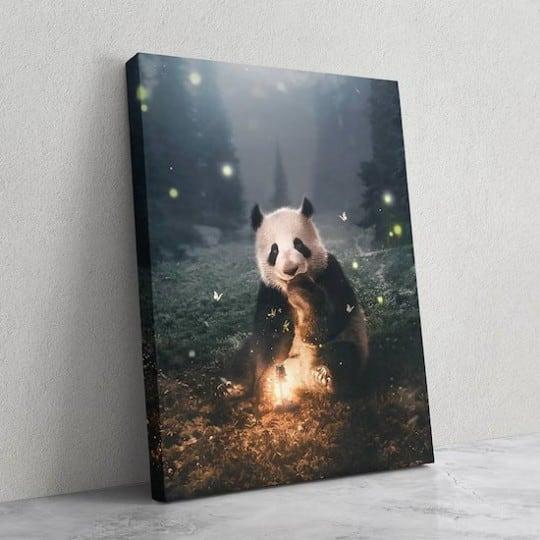 Tableau animal de panda magique de notre artiste pour votre décoration murale