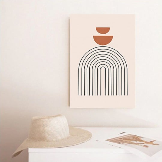 Toile imrpimée boho aux formes abstraites pour votre déco murale design